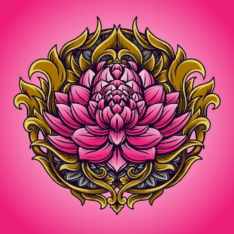 Lotus gravure sieraad