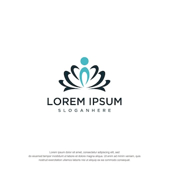Lotus logo ontwerp tempel