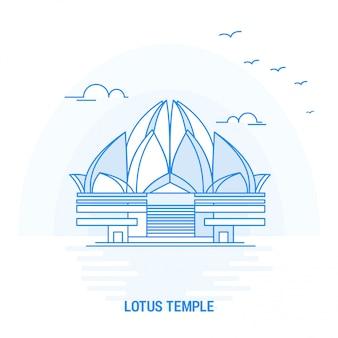 Lotus-tempel blauw oriëntatiepunt