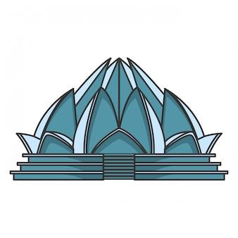 Lotus tempelarchitectuur