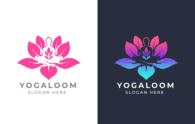 Lotus yoga logo ontwerp