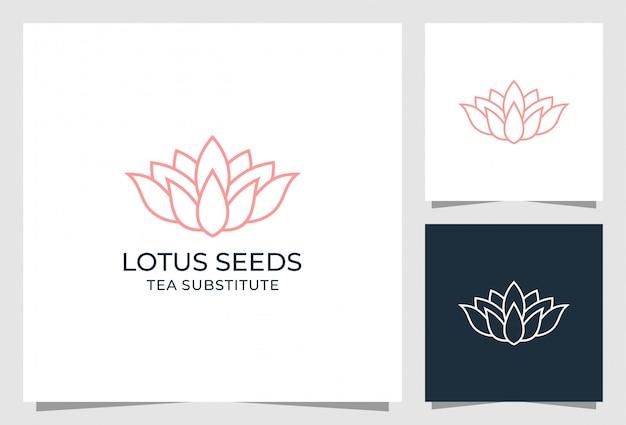 Lotus zaden logo ontwerp