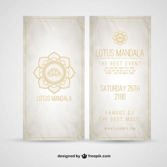 Lotusbloem mandala flyer