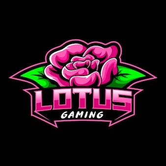 Lotusbloem, mascotte logo