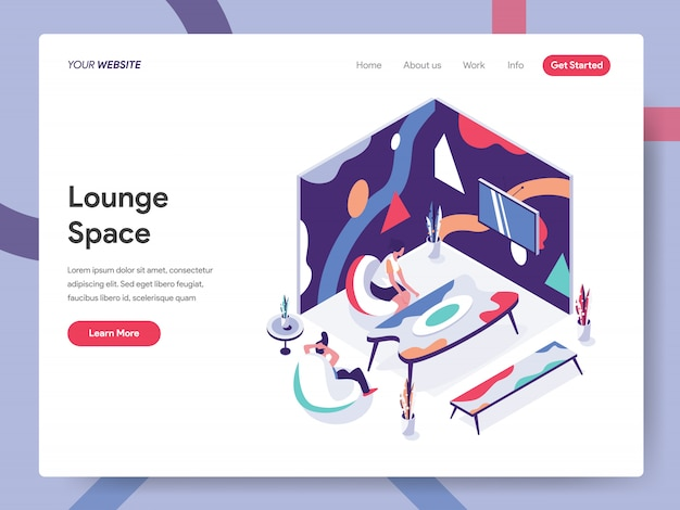 Lounge ruimte illustratie