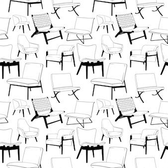 Lounge stoel naadloze patroon
