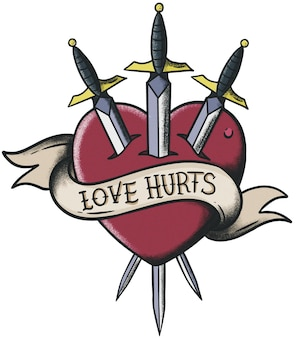 Love hurts neo traditional old school