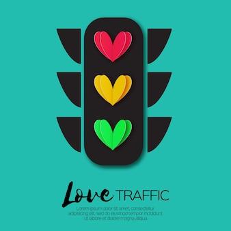 Love lights. verkeerslichten