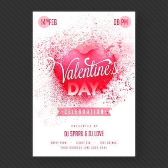 Love party banner of flyer.
