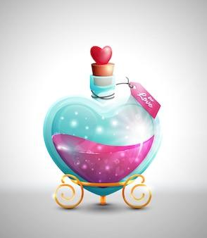 Love potion fles met tag
