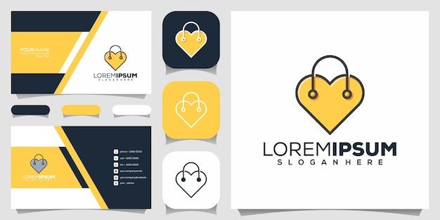 Love shop logo ontwerp