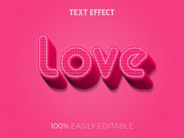 Love tekst effect