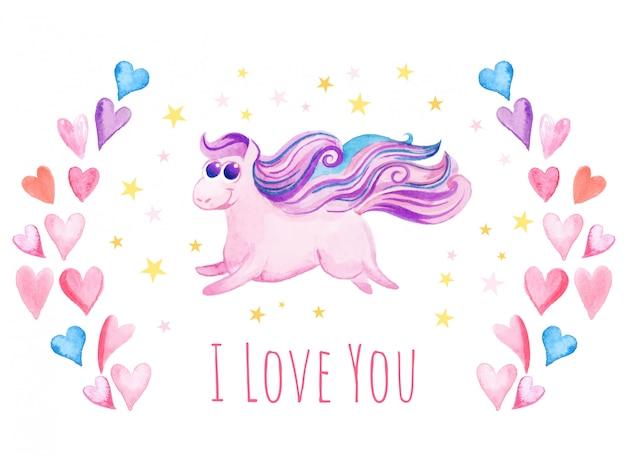 Love unicorn background