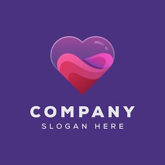 Love valentijn logo-ontwerp
