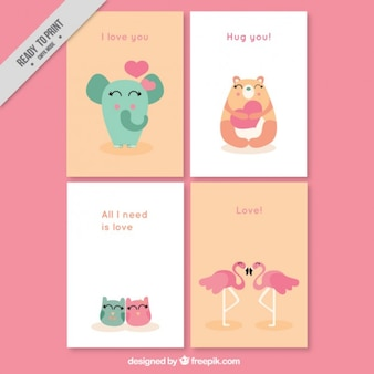 Lovely animales kaarten