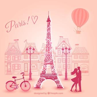 Lovers in parijs