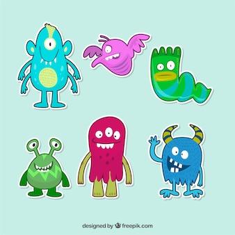 Lovley pak van monsters stickers