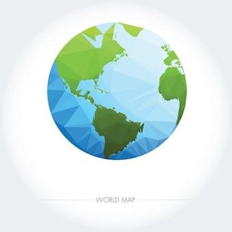 Low poly aardeontwerp