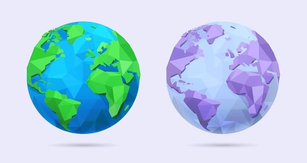 Lowpoly 3d aarde