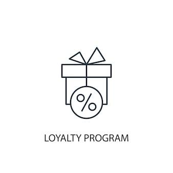 Loyaliteitsprogramma concept lijn icoon. eenvoudige elementenillustratie. loyaliteitsprogramma concept schets symbool ontwerp. kan worden gebruikt voor web- en mobiele ui/ux