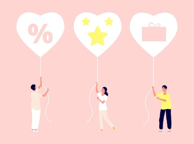 Loyaliteitsprogramma. kortingen, bonussen en geschenken voor klanten.