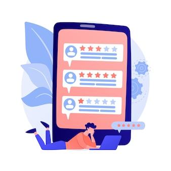 Loyaliteitssterren. klant- en gebruikersrecensies. website ranking systeem, positieve feedback, stemmen evalueren. webpagina met gerangschikte persoonlijke profielen.