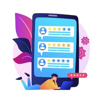 Loyaliteitssterren. klant- en gebruikersrecensies. website ranking systeem, positieve feedback, stemmen evalueren. webpagina met gerangschikte persoonlijke profielen