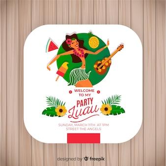Luau feestbanner