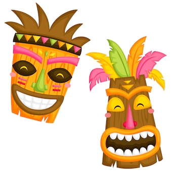 Luau-maskers