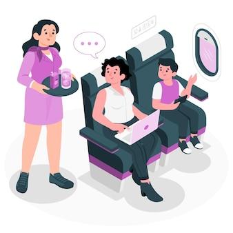 Lucht gastvrouw concept illustratie