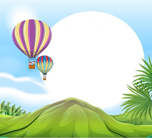 Luchtballon sjabloon
