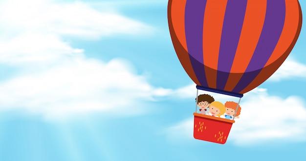 Luchtballonbehang