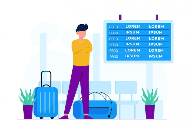Luchthaven concept illustratie