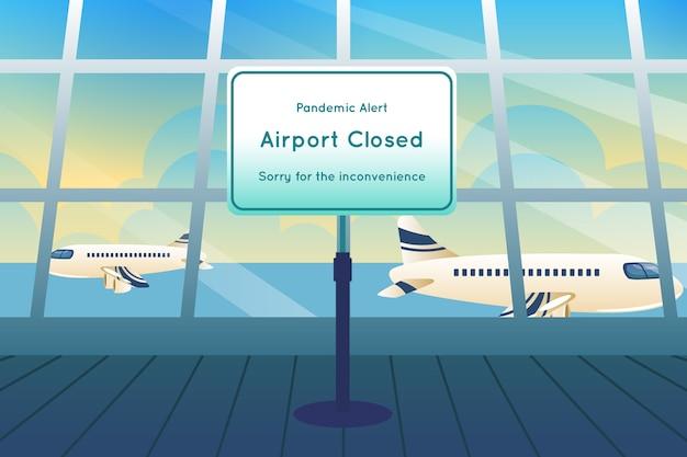 Luchthaven gesloten wegens pandemie