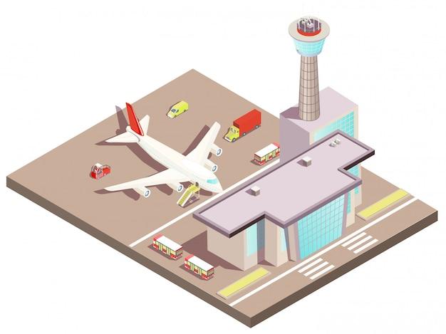 Luchthaven isometrisch