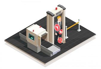 Luchthaven isometrische illustratie