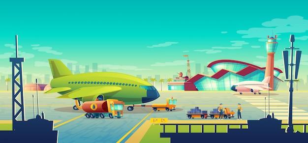 Luchthaven landschap