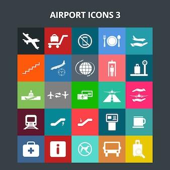 Luchthaven pictogrammen
