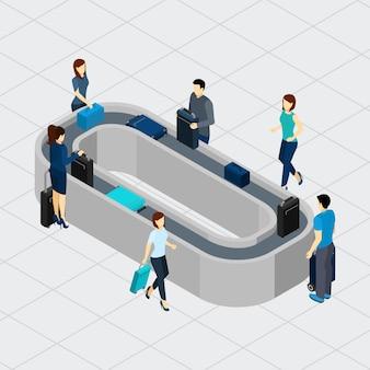 Luchthaven transportband lijn illustratie