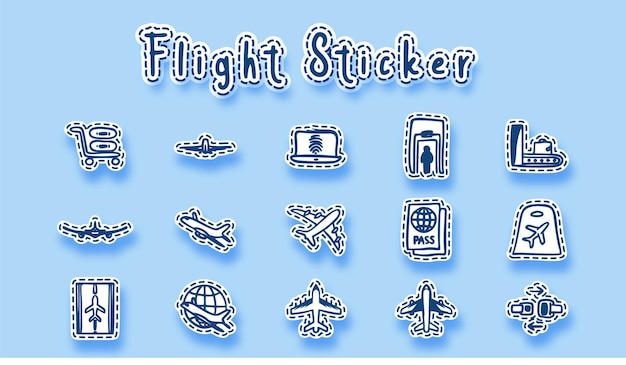 Luchthaven vliegtuig lijntekeningen
