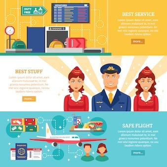 Luchthavenbanner instellen