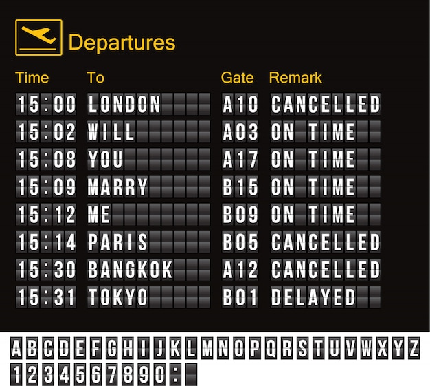 Luchthavenbord geïsoleerd