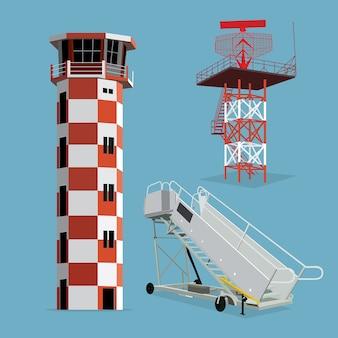 Luchthavenpictogram luchtverkeersleiding