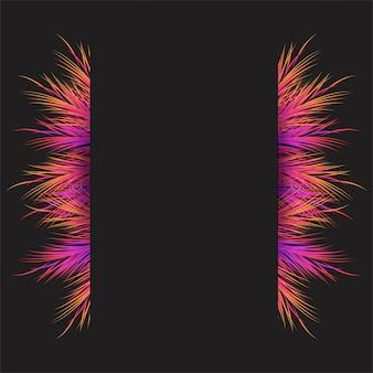 Luchtig kader met kleurrijke objecten achtergrond
