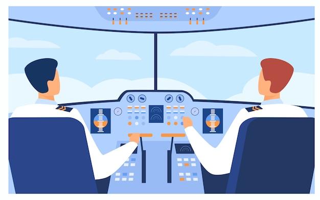 Luchtvaart en vluchtconcept