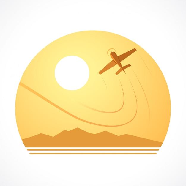 Luchtvaartlogo voor ontwerpen