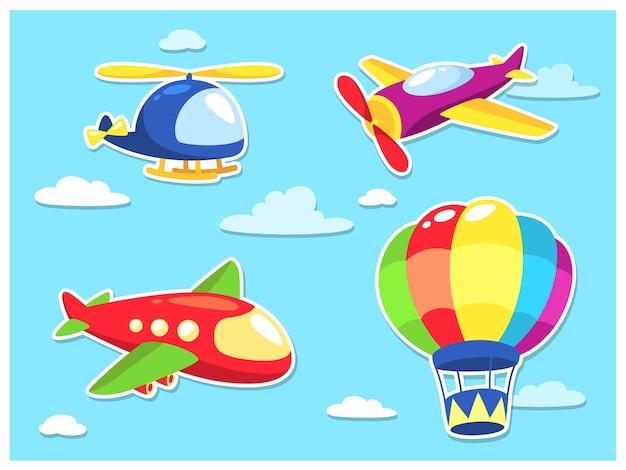 Luchtvervoer cartoon