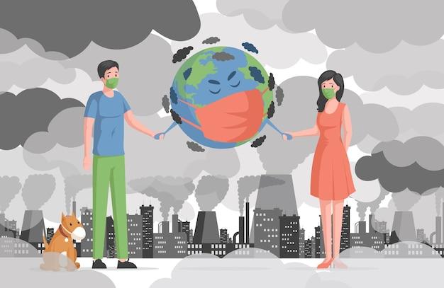 Luchtvervuiling en opwarming van de aarde