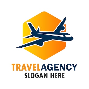 Luchtvliegtuig logo, reis wereld logo met tekstruimte voor uw slogan