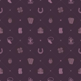 Lucky charms naadloze patroon